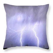 Double Lightning Strike Harmony Throw Pillow
