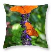 Double Orange Throw Pillow