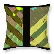 Double Pattens Throw Pillow