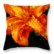 Double Petaled Lilly Throw Pillow