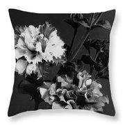 Double Petunias Throw Pillow