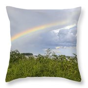 Double Rainbow Sheffield Island Throw Pillow