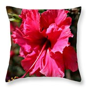 Double Red Throw Pillow