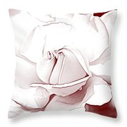 Double Rose Sweet Throw Pillow