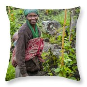 Double Shifts Throw Pillow
