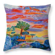 Candy Coated Monterey Sunset Throw Pillow