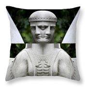 Double Sphinx Throw Pillow