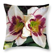 Double The Bloom Throw Pillow