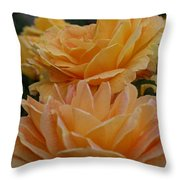 Double Trouble In Bloom Throw Pillow