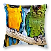Double Troublers Throw Pillow