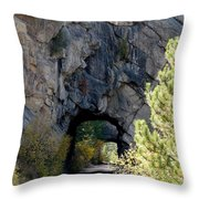 Double Tunnel - Eleven Mile Canyon Throw Pillow