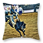 Double Vision Coming Throw Pillow