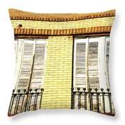 Double Window Work Throw Pillow