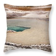Doublet Pool In Upper Geyser Basin In Yellowstone National Park Throw Pillow