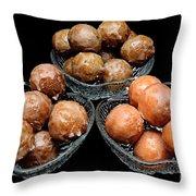 Dough Nut Holes Throw Pillow