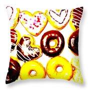 Doughhhnuts Throw Pillow