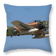 Douglas Ad-4 Skyraider Throw Pillow