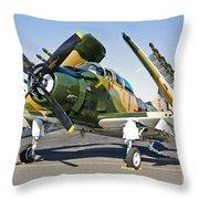 Douglas Ad-5 Skyraider Attack Aircraft Throw Pillow