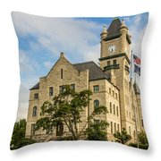 Douglas County Courthouse 2 Throw Pillow