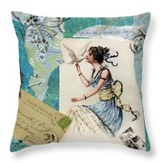 Dove Kiss Throw Pillow