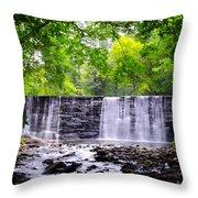 Dove Lake Waterfall At Gladwyne Throw Pillow