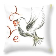 Dove Of Love Throw Pillow