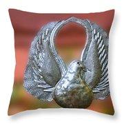 Garden Dove Of Peace Sculpture Throw Pillow