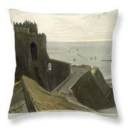 Dover Castle, From A Voyage Around Throw Pillow