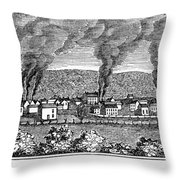 Dover, New Jersey, 1844 Throw Pillow