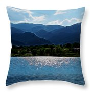 Down By The Lake Digital Art Throw Pillow