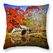 Down By The Old Mill Stream  Throw Pillow by Lynn Bauer