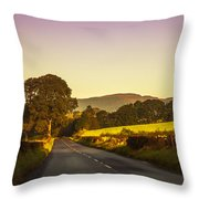 Down By The Road. Scotland Throw Pillow