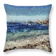 Down By The Sea 1 Throw Pillow