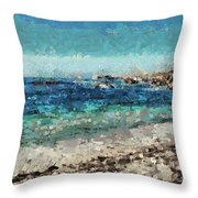 Down By The Sea 2 Throw Pillow