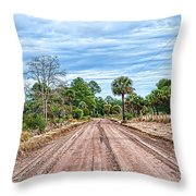 Down Chisolm Island Road Throw Pillow