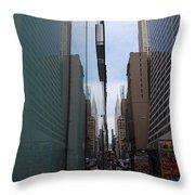 Down E 43rd Street N Y C Throw Pillow