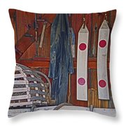 Down East Equipment  Throw Pillow