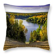 Down Hill Into Fall Throw Pillow