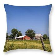 Down Home Amish Farm Throw Pillow