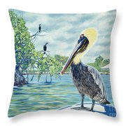 Down In The Keys Throw Pillow