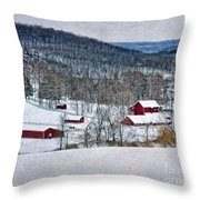 Down In The Valley Throw Pillow
