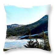 Down In The Valley Triptych Throw Pillow