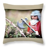 Down In The Woods Throw Pillow