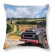 Down On The Farm - International Harvester S-100 Throw Pillow