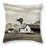 Down On The Farm Throw Pillow by Susan Leggett