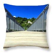 Down The Bridge Throw Pillow