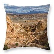 Down The Burr Trail Throw Pillow