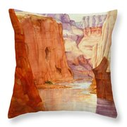 Down The Canyon - Day Two Throw Pillow