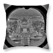 Down The Hole Throw Pillow