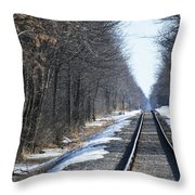 Down The Rails Throw Pillow